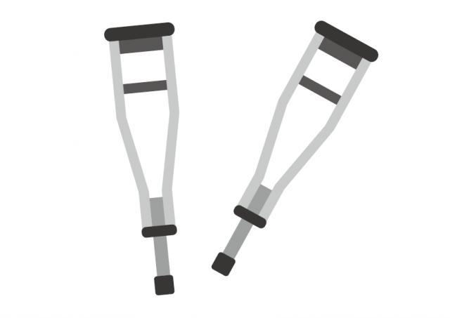松葉杖のイラスト
